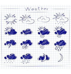 Icons - weather set vector