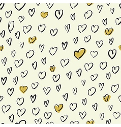 Seamless hand drawn hearts pattern vector