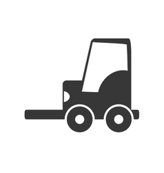 Forklift icon delivery and shipping vector