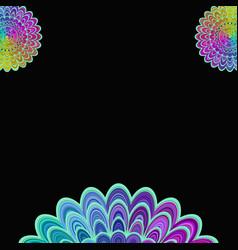 Abstract digital flower mandala art background - vector