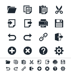 Application toolbar icons vector image vector image