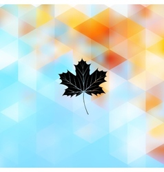 Autumnal maple leaf made of triangles EPS 10 vector image vector image