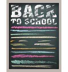 Back to School strokes vector image vector image