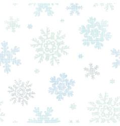 Blue christmas snowflakes textile texture seamless vector