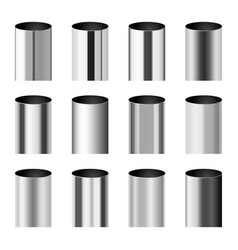 Chrome metal polished gradients corresponding to vector
