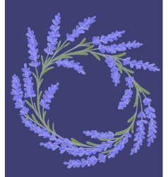 Decorative floral colored garland vector