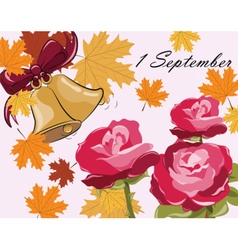 First bell call autumn background vector