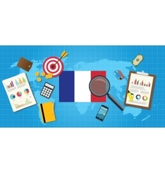 France economy economic condition country with vector