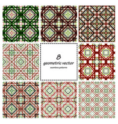 geometric seamless set vector image vector image