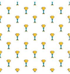 Golf cup winner gold pattern vector