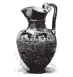 greek pot is a round and simple design vases vector image