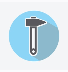 Hammer color icon vector