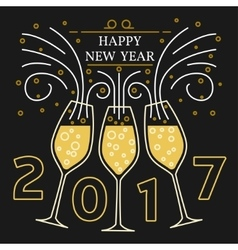 Happy new year greeting card eps10 vector