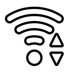 Line wi-fi icon vector