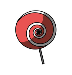 lollipop sweet candy vector image