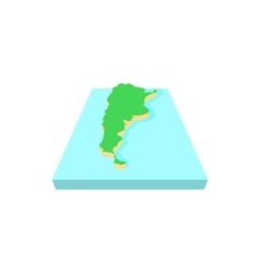 Map of argentina icon cartoon style vector