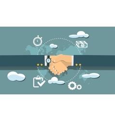 Modern and classic design online success teamwork vector
