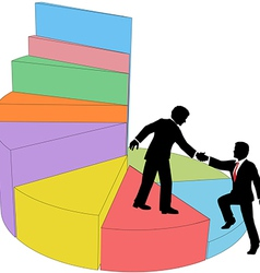 People consulting help market share vector image