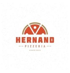 Pizzeria restaurant shop design element vector