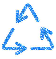 recycle grunge icon vector image vector image