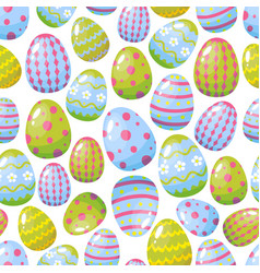 seamless pattern with easter eggs vector image vector image
