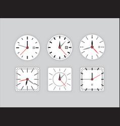 set clock dial timer vector image vector image
