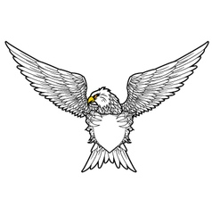 shield and Fury spread winged eagle tattoo vector image