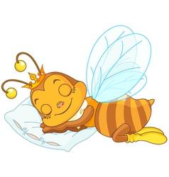 Sleeping bee vector image vector image