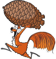 squirrel with pinecone vector image
