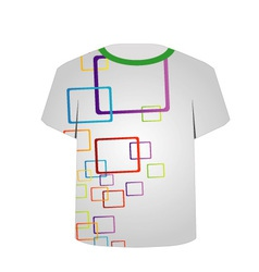 T Shirt Template- Shape art vector image vector image