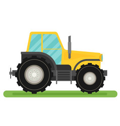 tractor isolated on white background flat vector image