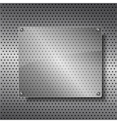 Transparent glass frame vector