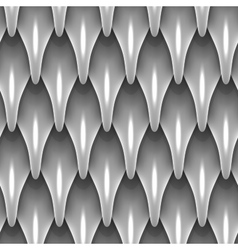 White dragon scales seamless background texture vector