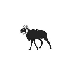 wild goat silhouette icon design wild animal vector image