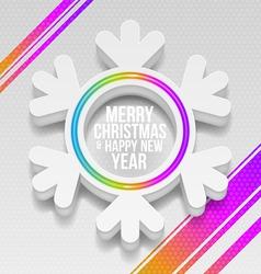 Abstract white Christmas snowflake vector image