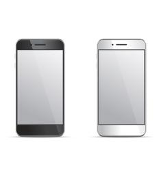 Empty screen smartphone templates on white vector