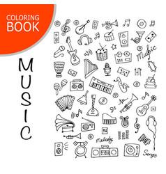 Music instrument set sketch for your design vector