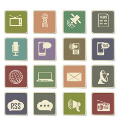 Media icon set vector