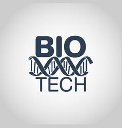 Biotechnology logo icon design vector
