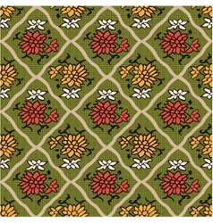 seamless chinese style floral pattern vector image