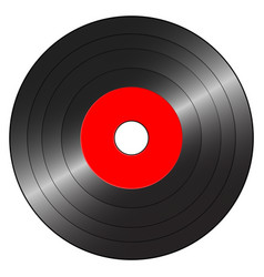 Small gramophone record red vector