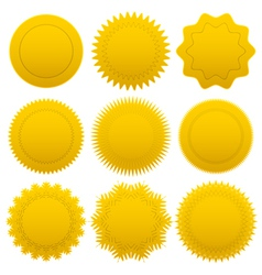 Set gold medals vector