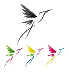 Colored stylized colibri vector