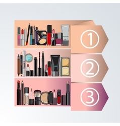 Rating decorative cosmetics vector