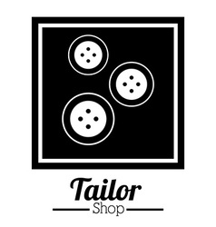 Tailor shop design vector