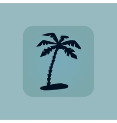 Pale blue vacation icon vector