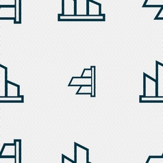Diagram icon sign seamless pattern with geometric vector