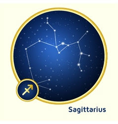 Sagittarius constellation vector