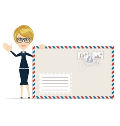 Women with envelopes vector