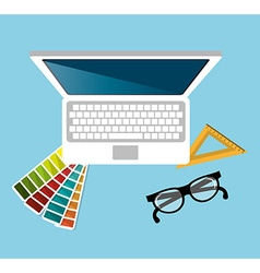 Computer web design vector